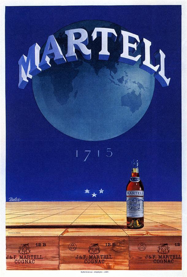 Martell - Cognac - Liquor - Vintage Advertising Poster Mixed Media