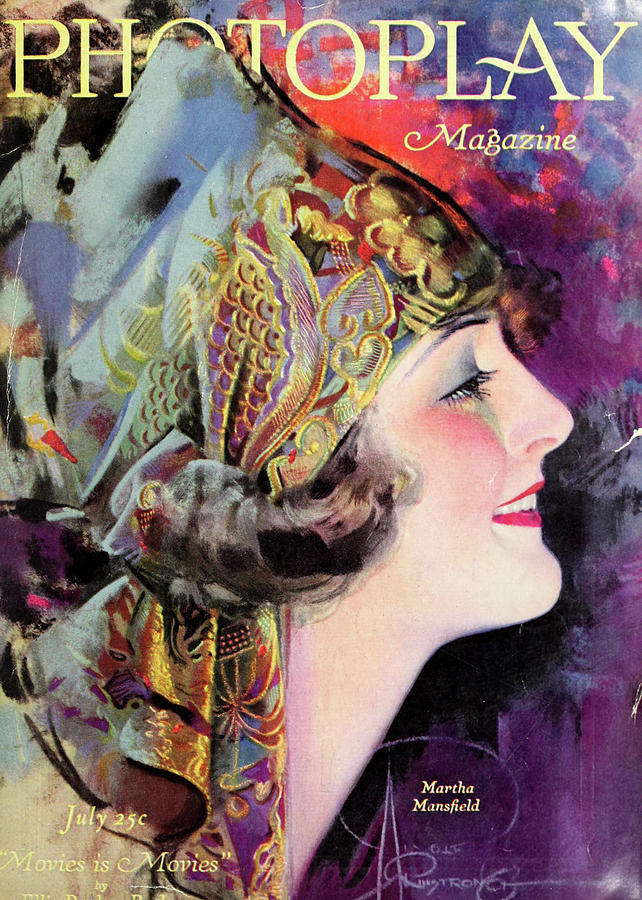 Photoplay Digital Art - Martha Mansfield, Photoplay July 1920 by Sarah Vernon