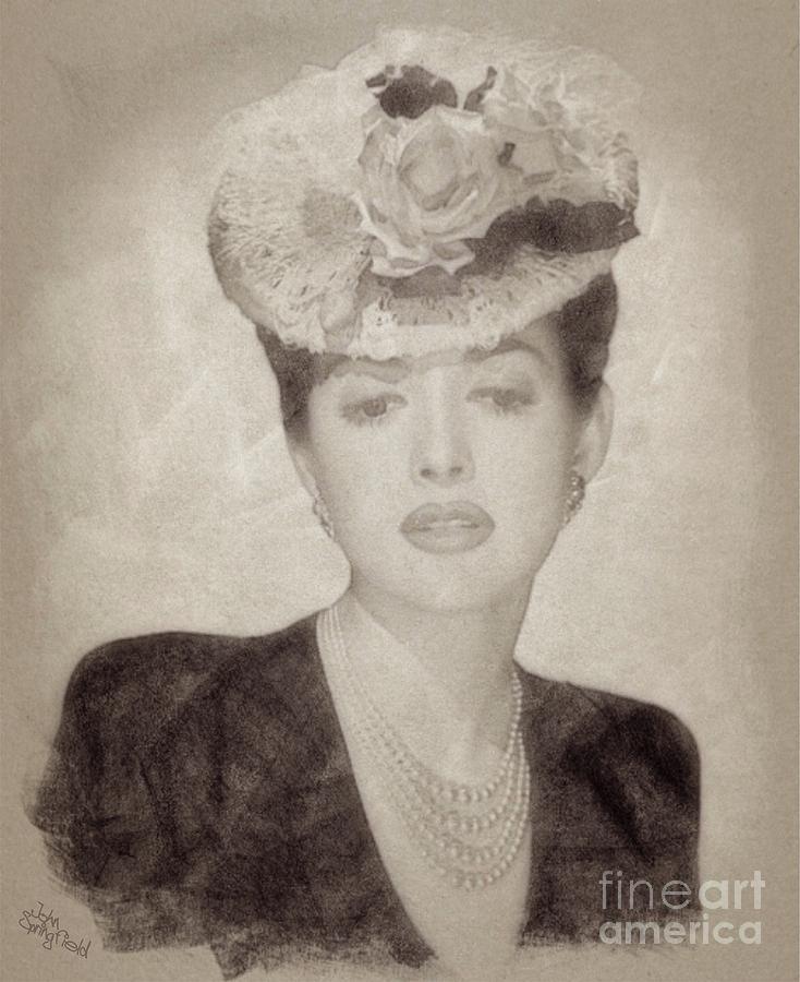 Martha Vickers, Vintage Actress Drawing