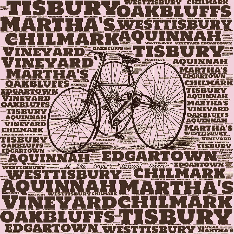 Marthas Vineyard Bicycle Red Digital Art