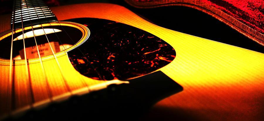 Guitar Photograph - Martin by Erika Lesnjak-Wenzel