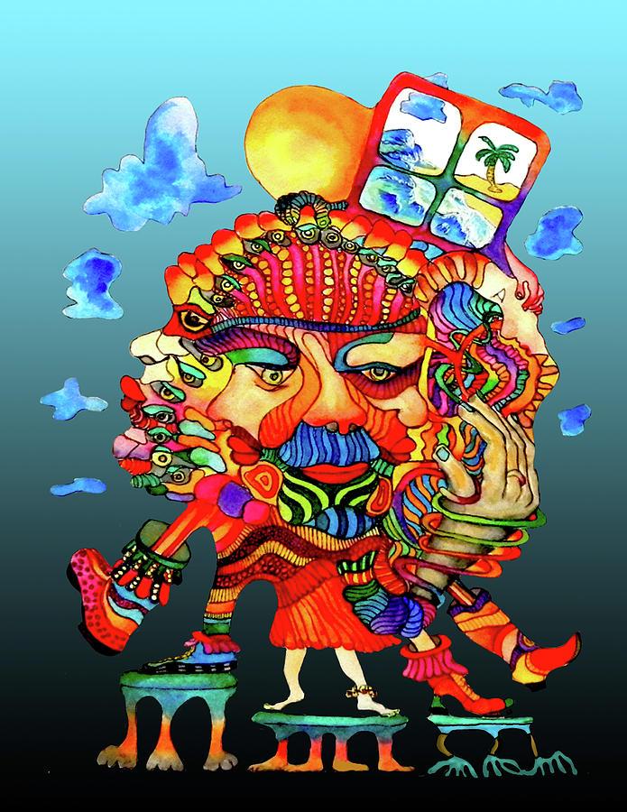 Hula Painting - Martin-hardy-hula-girl1 by Martin Hardy