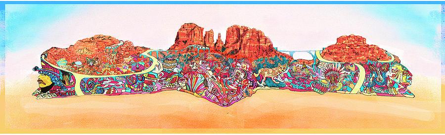 Sedona Painting - Martin-hardy-sedona Wide by Martin Hardy