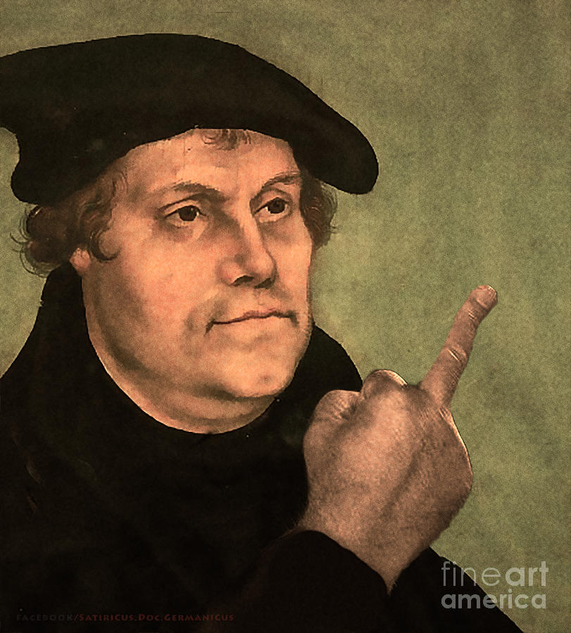 Humor Photograph - Martin Luther  Finger by Doc GermaniCus