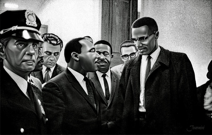 a comparison of the backgrounds of martin luther king and malcolm x the two fighters for racial equa Both martin luther king, jr and malcolm x were african-american dreamers their dreams as black americans captured not only the imagination of america, but also that of freedom fighters around.