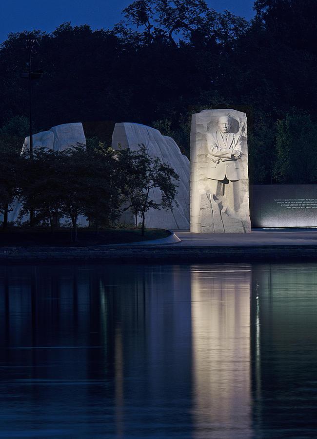 Martin Photograph - Martin Luther King Jr Memorial Overlooking The Tidal Basin - Washington Dc by Brendan Reals