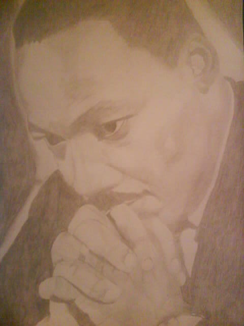 Famous Leader Drawing - Martin Luther King Jr. by Milton  Gore