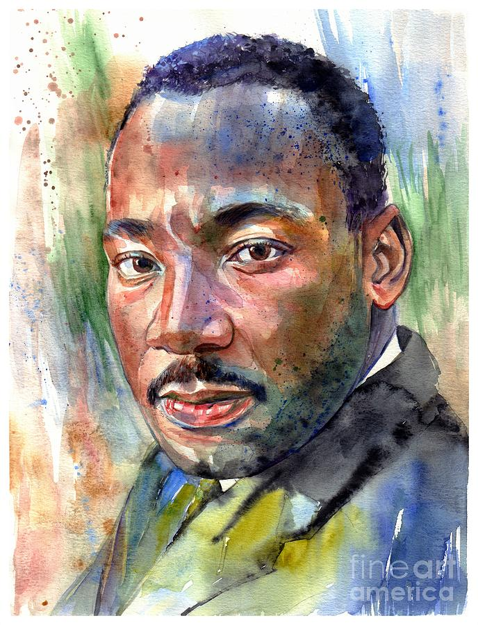Martin Luther King Jr Painting - Martin Luther King Jr. Painting by Suzann Sines