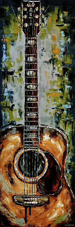 Guitar Painting - Martin by Magda Magier