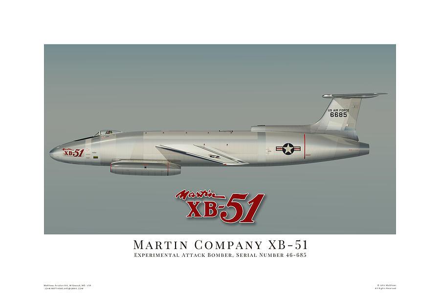 martin xb 51 profile digital art by john matthews