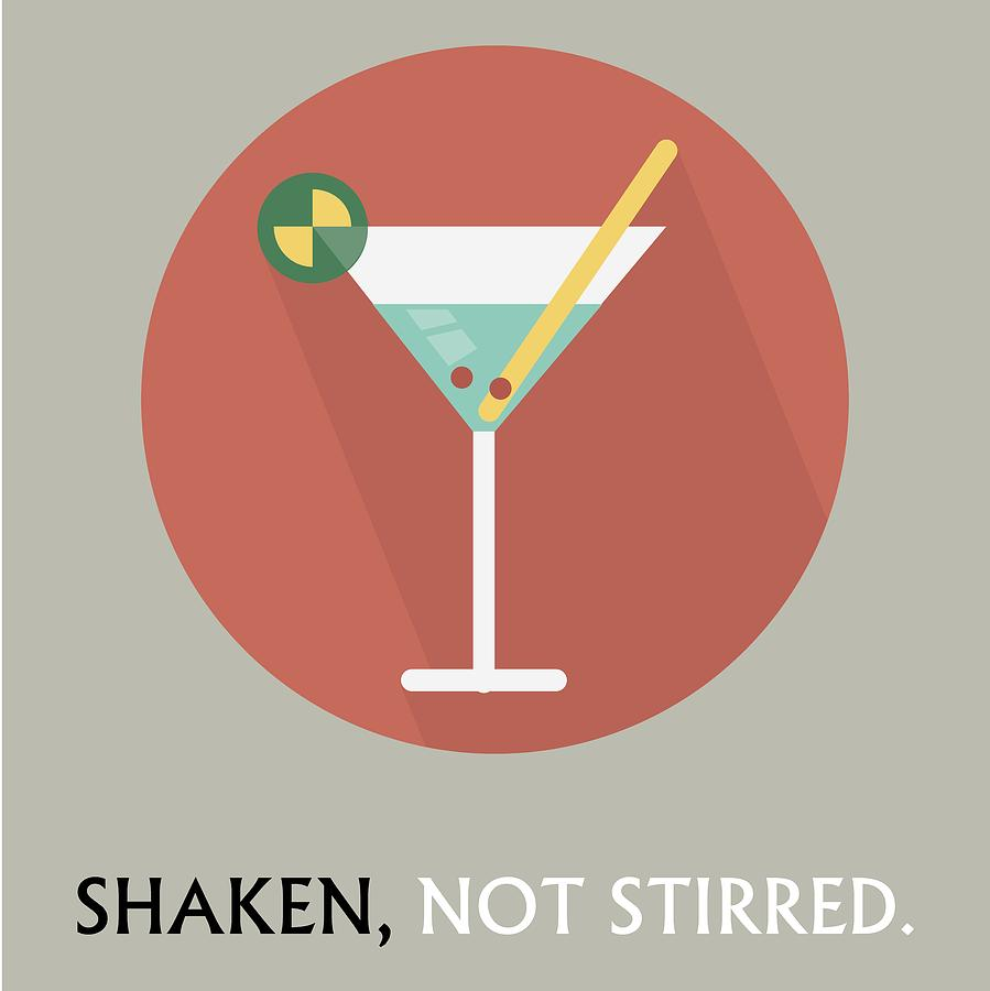 Martini Poster Print - Shaken, Not Stirred by Beautify My Walls