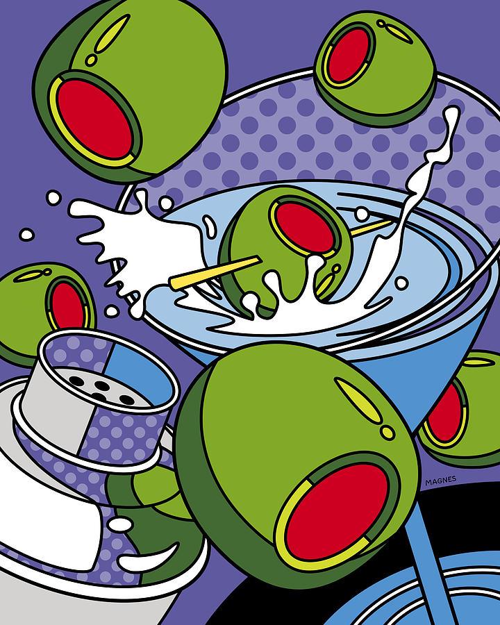 Martini Digital Art - Martini Time by Ron Magnes