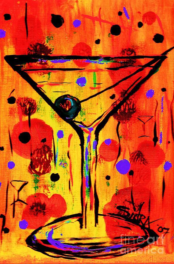 Martini Painting - Martini Twentyfive Of Sidzart Pop Art Collection by Sidra Myers