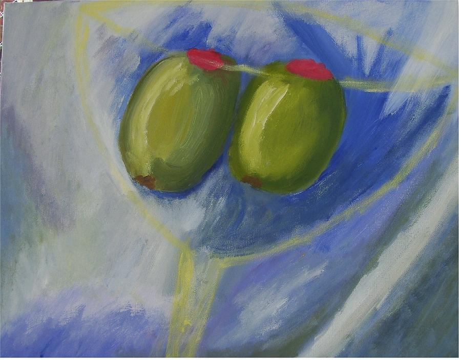 Martinis For Two Painting by Janice Livingston