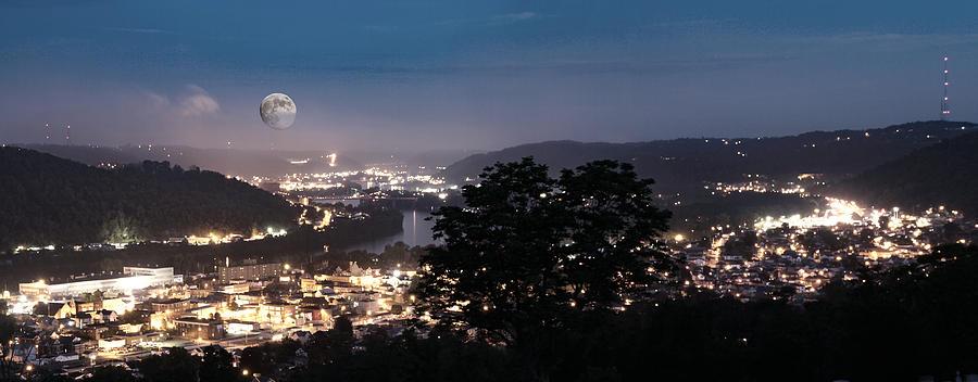 River Town Photograph - Martins Ferry Night by David Yocum