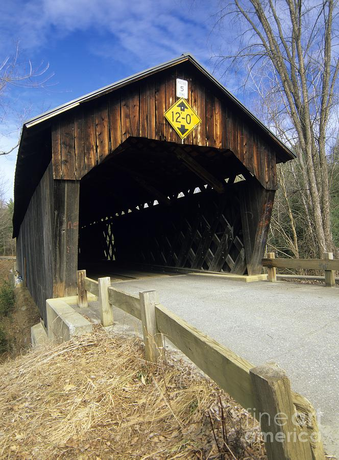 Bridge Photograph - Martinsville Covered Bridge- Hartland Vermont Usa by Erin Paul Donovan