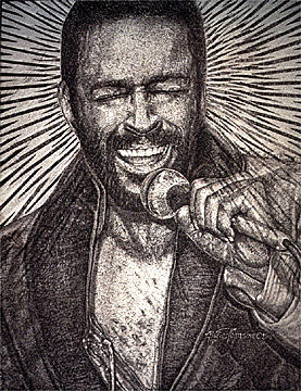 Marvin Gaye Painting - Marvin Gaye  by Buena Johnson