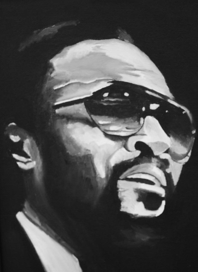 Marvin Gaye Posters Painting - Marvin Gaye II by Mikayla Ziegler