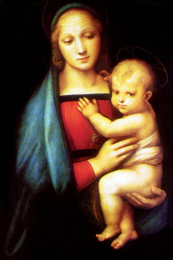 Mary Photograph - Mary And Baby Jesus by Munir Alawi