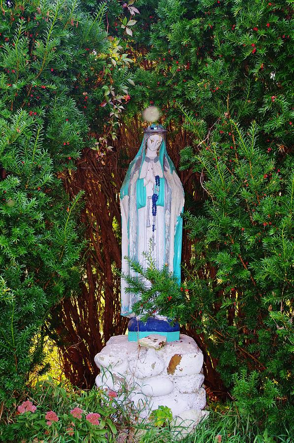 Virgin Mary Statue Photograph - Mary And Orb by Don Youngclaus