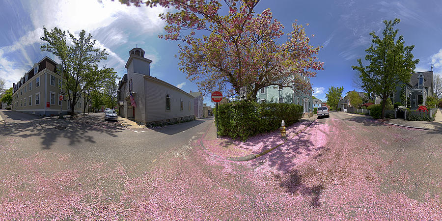 School Street Photograph - Mary And School Steets In Newport Mercator by Christopher Blake