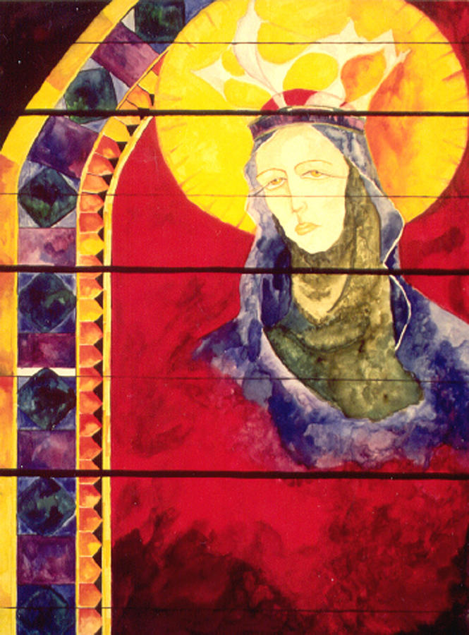Goddess Painting - Mary by Erika Brown