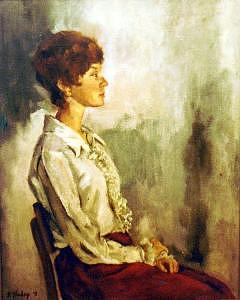 Mary Painting by Helen Hickey