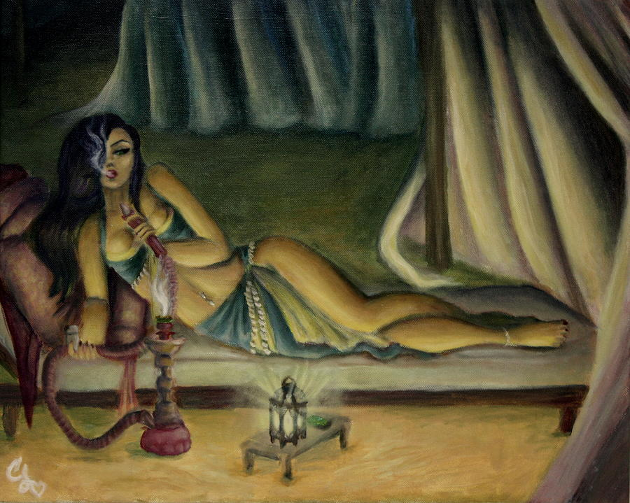 Marijuana Painting - Mary Jane Addington by C S