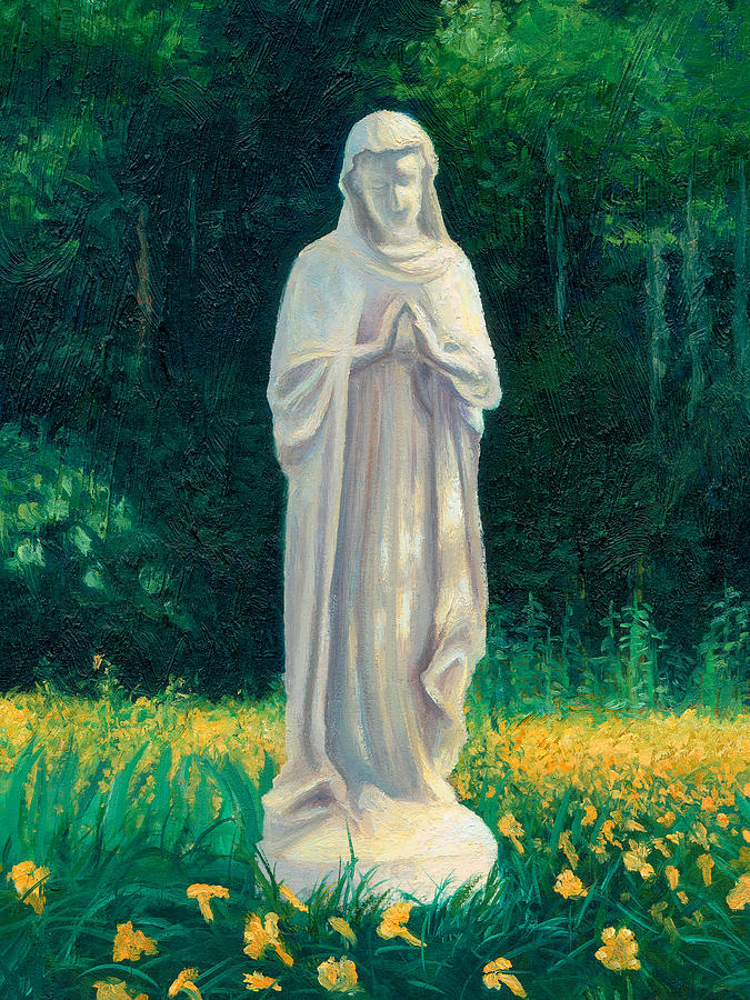 Blessed Mother Painting - Mary by Joe Winkler
