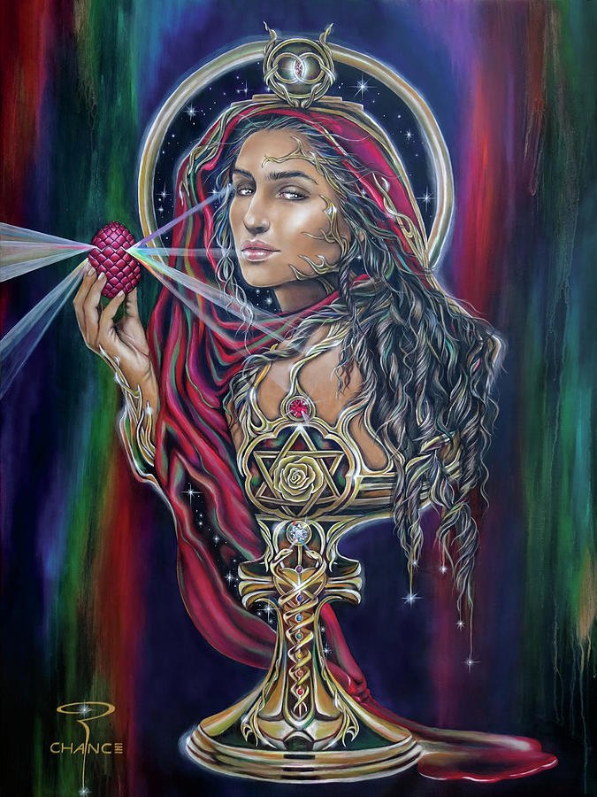 Mary Magdalen - The Holy Grail Painting by Robyn Chance