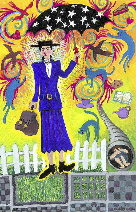 Mary Poppins Painting - Mary Poppins by Shoshanah Dubiner