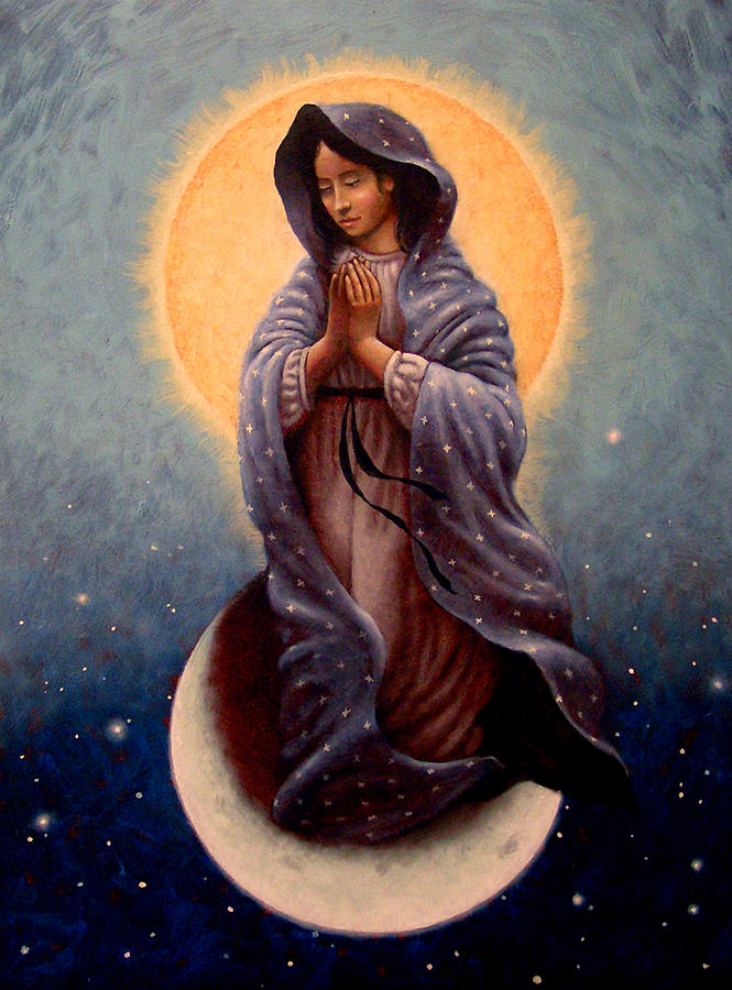 Mary Painting - Mary Queen Of Heaven by Timothy Jones