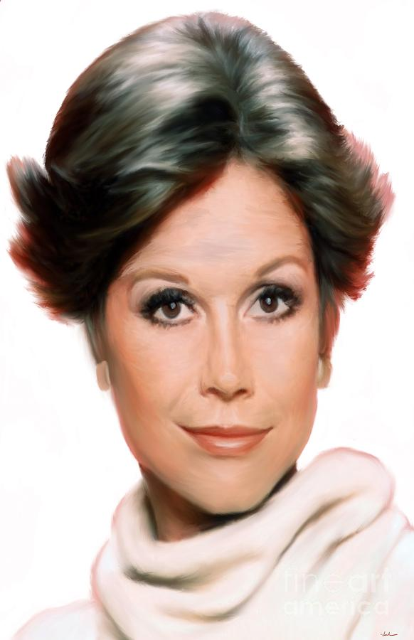 Mary Tyler Moore Painting by Jack Bunds