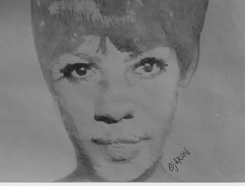 Motown Drawing - Mary Wilson by B Jaxon