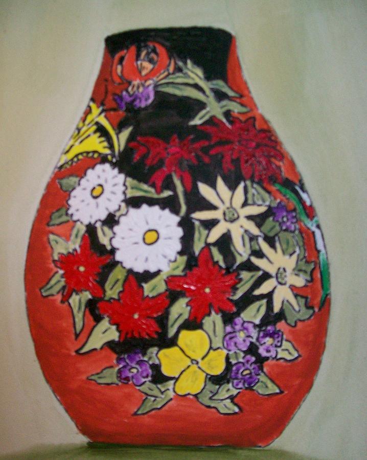 Flower Vase Painting - Maryanns Gourd by Leo Gordon