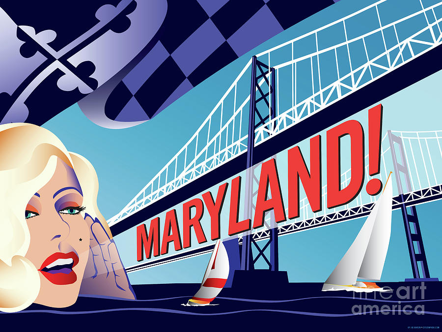 Maryland Digital Art - Maryland Monroe by Joe Barsin