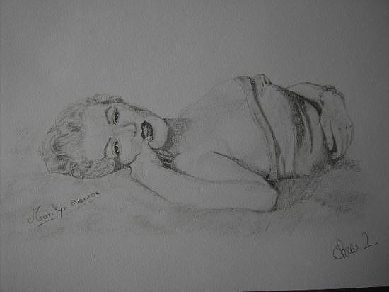 Drawing - Marylin  by Chris Lambert