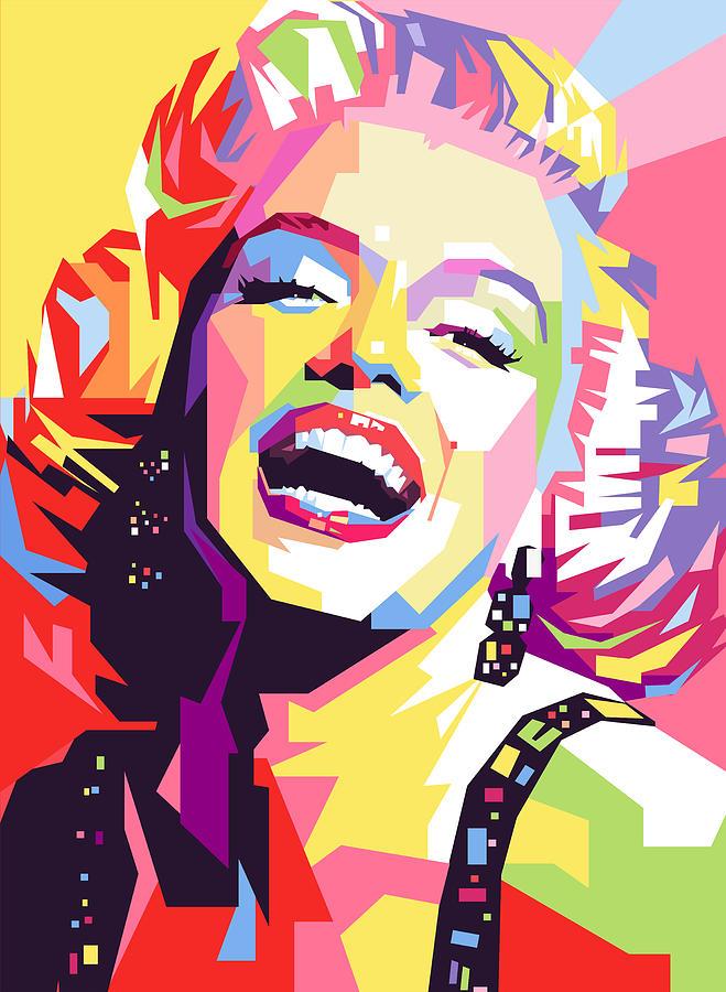 marylin monroe pop art painting by ahmad nusyirwan. Black Bedroom Furniture Sets. Home Design Ideas