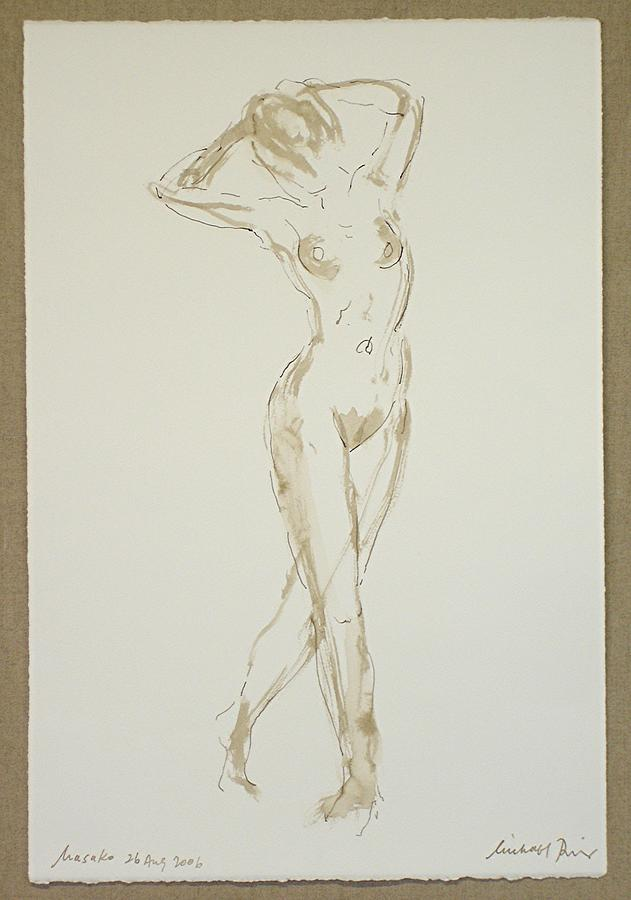 Nude Drawing - Masako 26 Aug No. 1. by Michael  Price