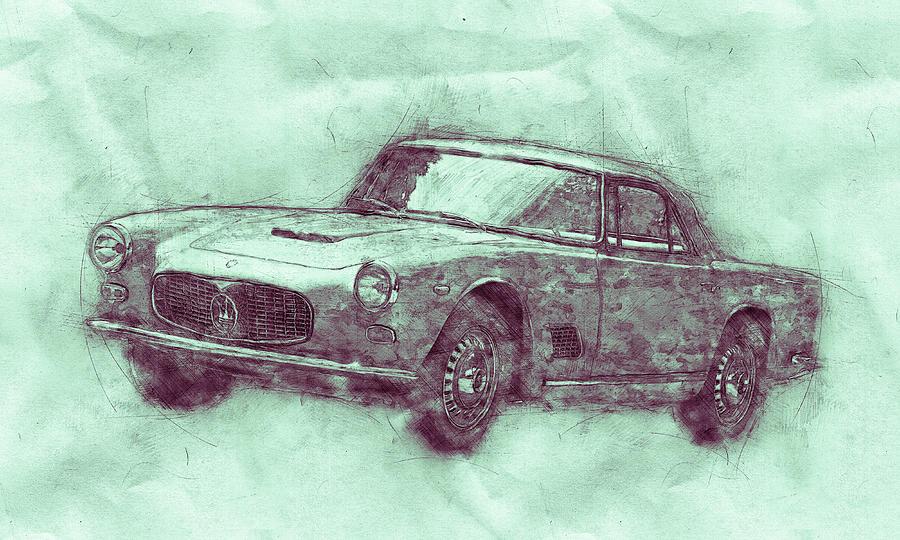 Maserati 3500 Gt 3 - Grand Tourer - Maserati 3500 Gt Convertibile - Automotive Art - Car Posters Mixed Media
