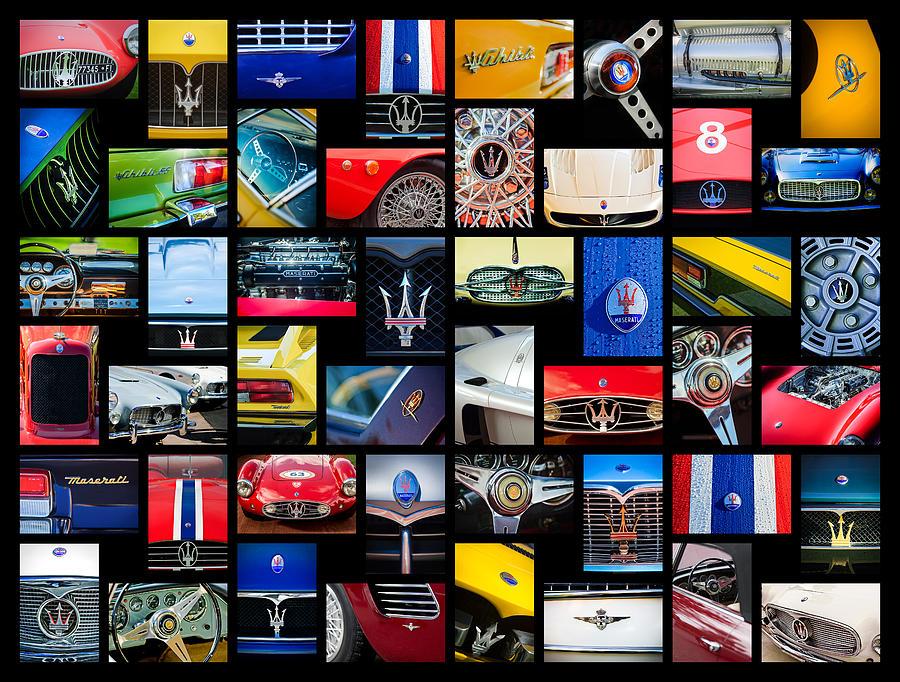 Car Photograph - Maserati Art -01 by Jill Reger