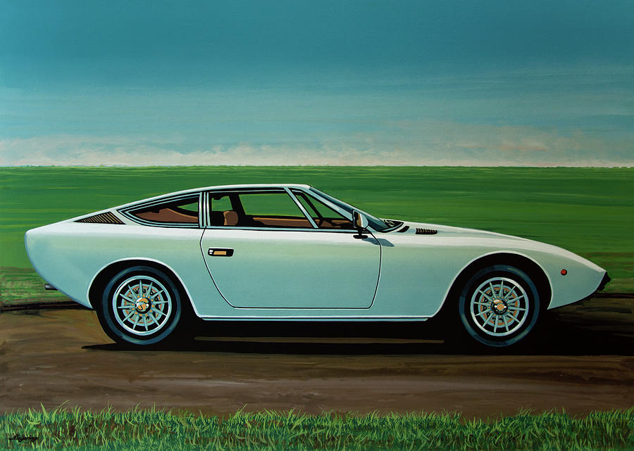 Italian Car Painting - Maserati Khamsin 1974 Painting by Paul Meijering