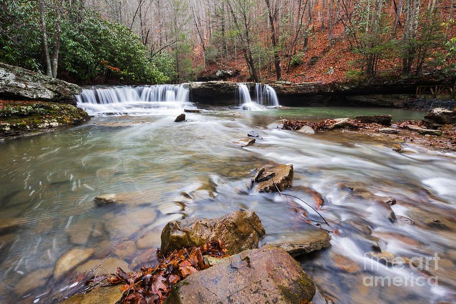 Waterfall Photograph - Mash Fork Falls by Mel Petrey