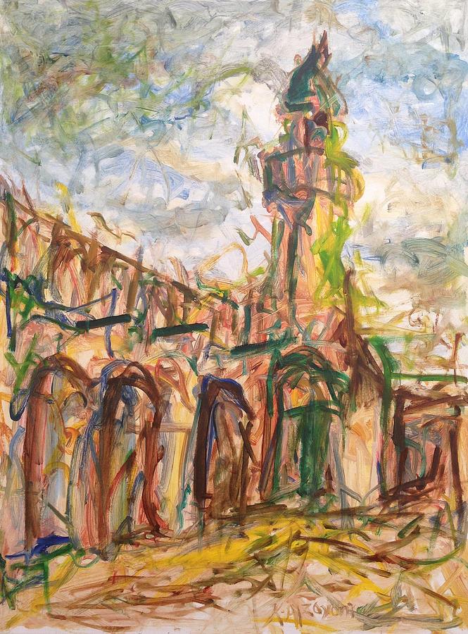 Paint Painting - Masjed II by Khalid Alzayani