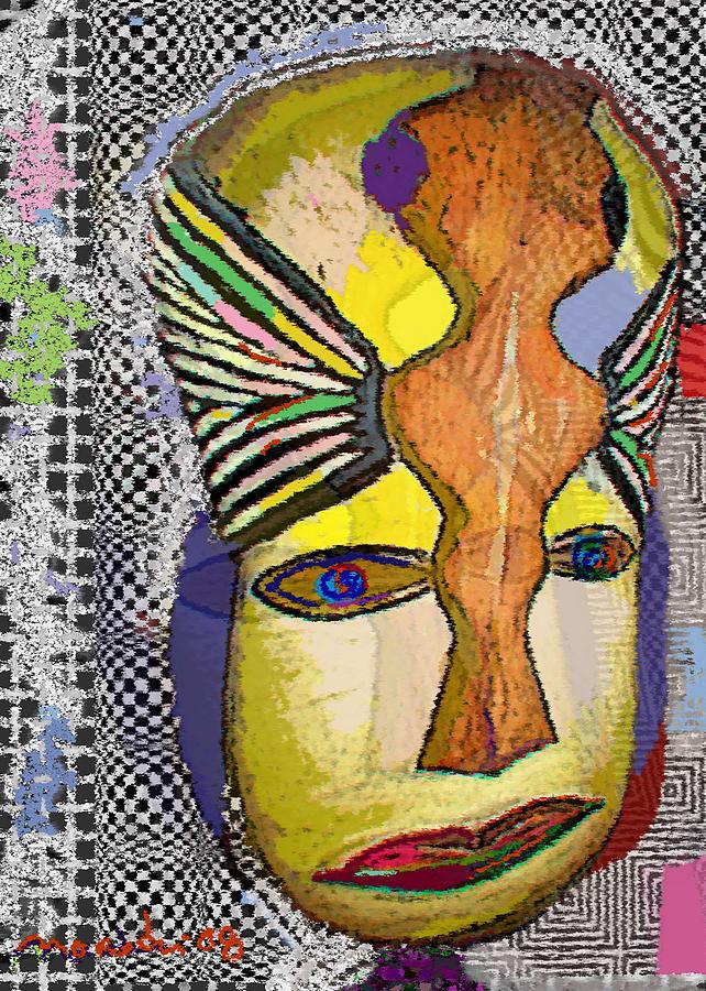 Drawing Drawing - Mask 13 by Noredin Morgan