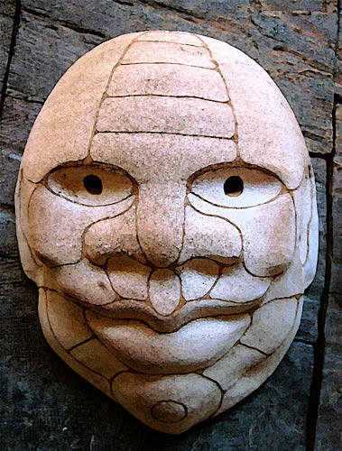 Tribal Ceramic Art - Mask by Alberto Cidraes