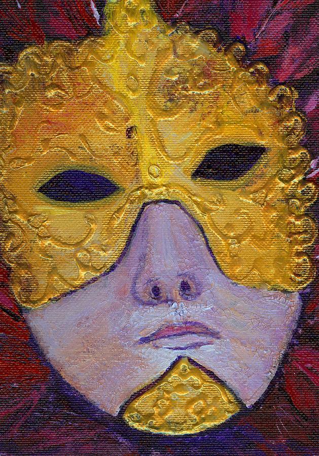 Acrylic Painting Painting - Mask by Birgit Schlegel