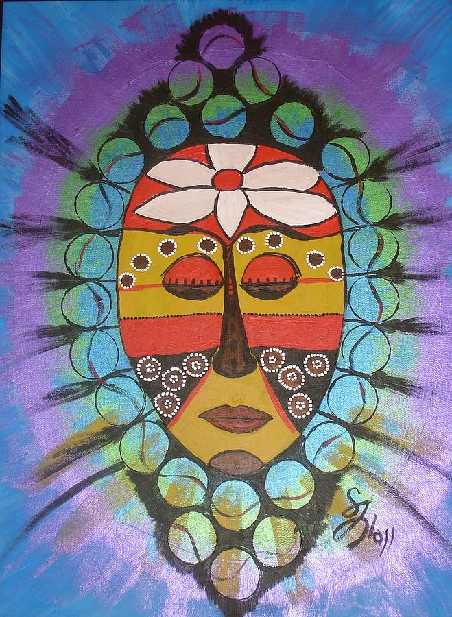 Mask Painting - Mask III by Sheila J Hall