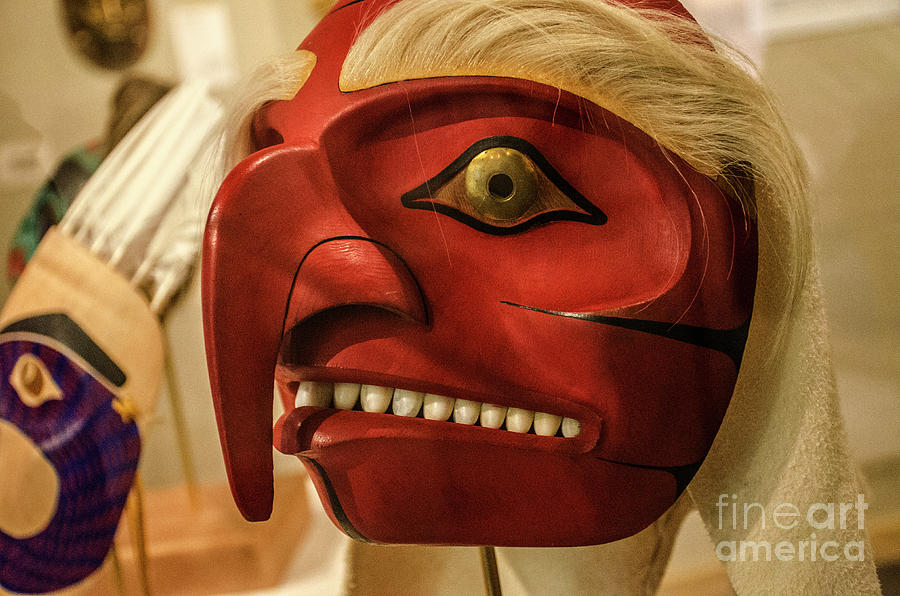 Mask Photograph - Mask Indigenous Alaska 1 by Bob Christopher