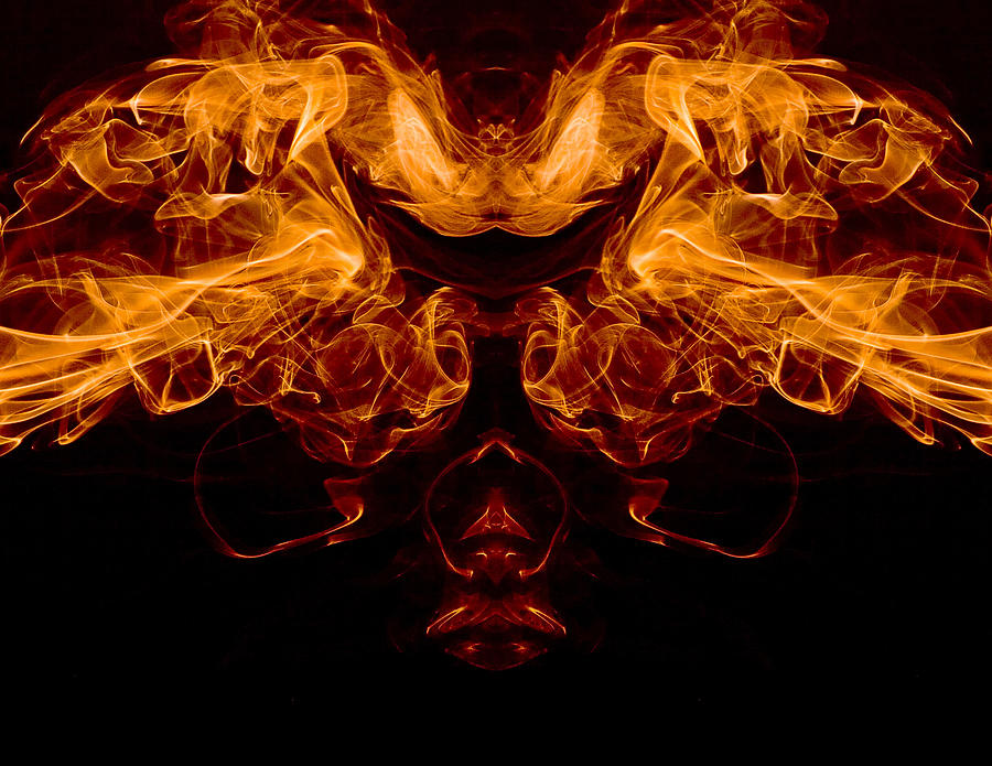 Mask Photograph - Mask Of Fire by Val Black Russian Tourchin